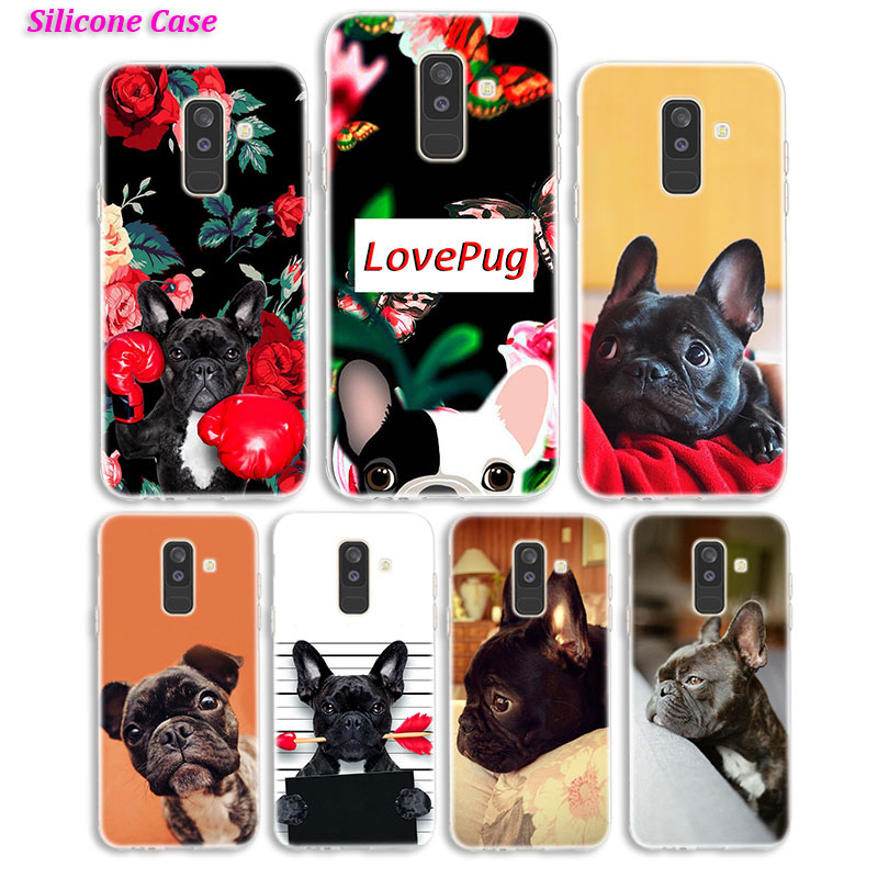 Silicone <font><b>Phone</b></font> <font><b>Case</b></font> French Bulldog <font><b>Dog</b></font> PUG for <font><b>Samsung</b></font> <font><b>Galaxy</b></font> A8S A6S A9 A8 Star A7 A6 A5 <font><b>A3</b></font> Plus 2018 <font><b>2017</b></font> 2016 Cover image