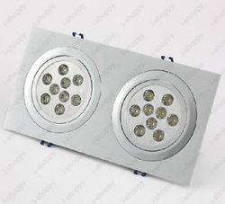 18 W 2X9 W wysokiej mocy 18 LED oświetlenie sufitowe oprawa Grill u nas państwo lampy żarówki jasne