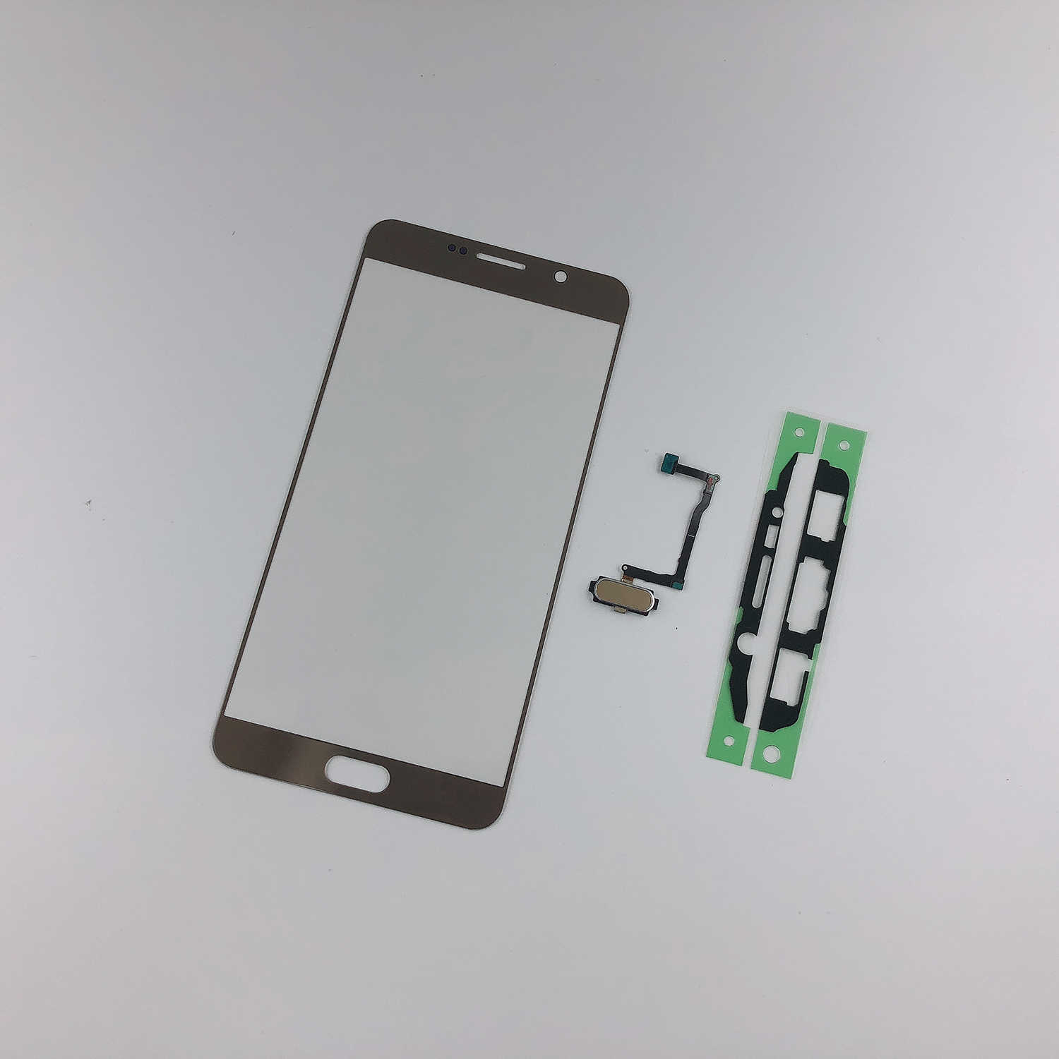 Per Samsung Galaxy Note5 N920F N920 Display LCD Pannello Del Sensore Anteriore In Vetro Touch Screen + Adesivo + Tasto Home di Impronte Digitali (senza lcd)