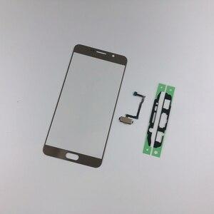 Для samsung Galaxy Note5 N920F N920 ЖК-дисплей Переднее стекло Сенсорная панель + клей + кнопка домой отпечатков пальцев (без ЖК-дисплея)