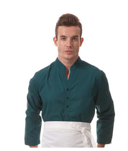 Top quality waiter uniform checkedout front desk waiter shirt waiter clothes