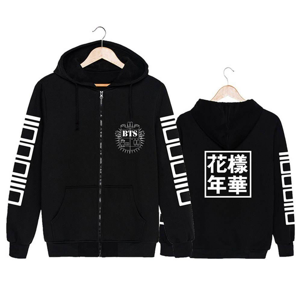 2016 Sudaderas Mujer BTS EXO Kopo Printed Sportwear font b Sweatshirts b font Jacket font b