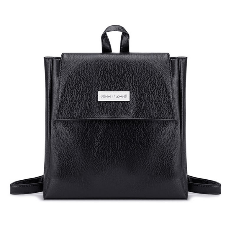 Fashion Summer New College Wind Schoolbag Washed Leather Backpack Woman Korean Tidal Leisure Travel Bag