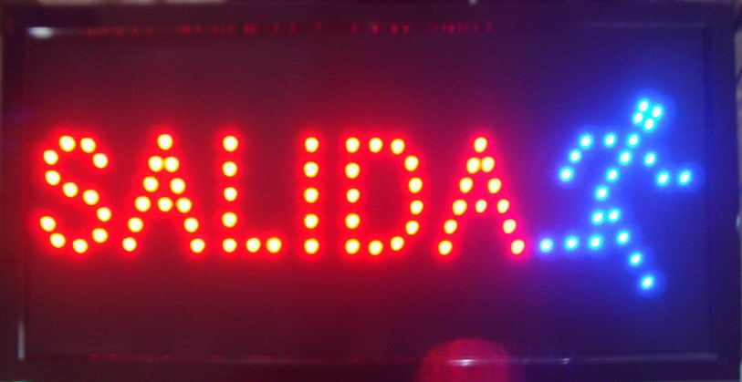 2017 hot sale customed 10x19 Inch Semi-outdoor Ultra Bright led advertising display salida sign