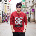 Big Guy Store 5XL 6XL 7XL 8XL Casual Mens T shirt Plus Size Long Sleeve T Shirt Men Oversize Baggy Cotton Tshirt Homme 694tshirt