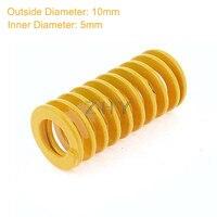 TF 10 мм OD 5 мм ID 15 мм 20 мм 25 мм 30 мм 35 мм 40 мм Длина желтый для легких нагрузок 65Mn металлический спиральный штамповочный пресс-форма
