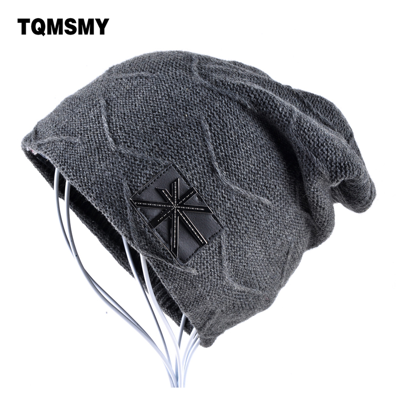 Man hat men skullies winter hats for Women beanies Solid Color gorros Hip-hop cap Knitted wool Plus velvet bonnet turban caps hip hop beanie hat baggy unisex cap thick warm knitted hats for women men bonnet homme femme winter cap plus velvet beanies