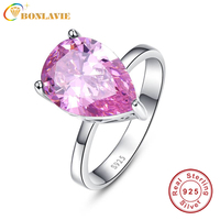 Fashionable Genuine Sterling Silver 925 Ring Mystic Pink Topaz 8 55carats Cz Promise Wedding Rings For