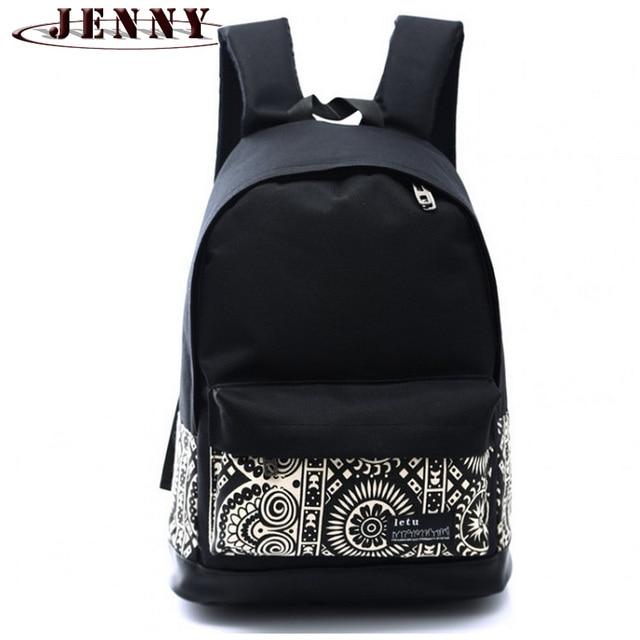 f0b399bb49a 2016 Korean style women bookbags canvas printing backpack cute school bags  backpacks for teenage girls mochila escolar feminina