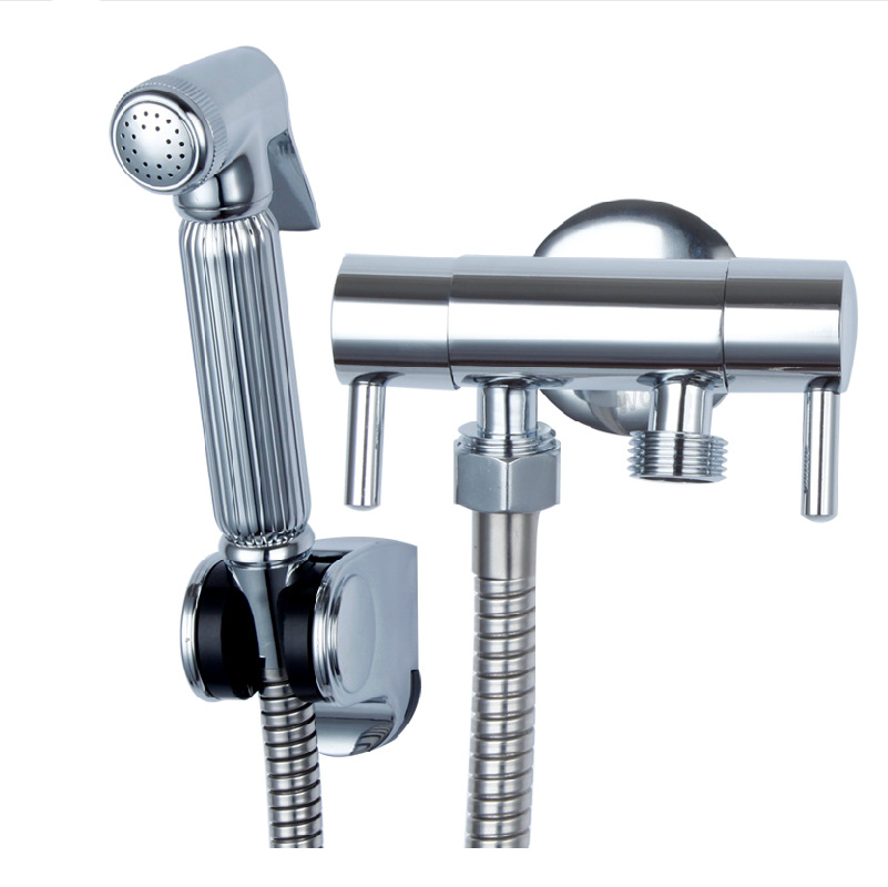 Free Shipping Solid Brass Chrome Handheld Bidet Toilet