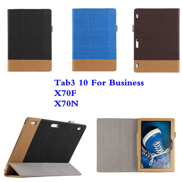 SD Для Lenovo Tab3 10 Для Бизнеса TB3-X70F tb3-X70N X70F Tablet PC PU Кожи С Магнитной Фолио Стенд книга Case крышка