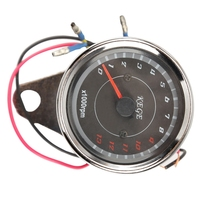 High Quality Motorcycle Styling Cool LED Light Universal Odometer Speedometer Meter 13000 RPM Scooter Analog Tachometer