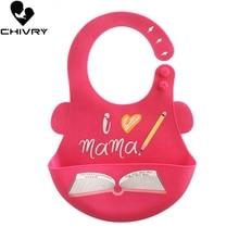 Chivry Baby Bibs Waterproof Silicone Feeding Boy Gilrs Saliva Towel Newborn Cute Cartoon Adjustable