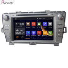 8′  Free Shipping Quad Core Android 5.1 Car GPS For TOYOTA PRIUS Left Driving 2009- With Stereo DVD Radio 16Gb Flash Mirror Link