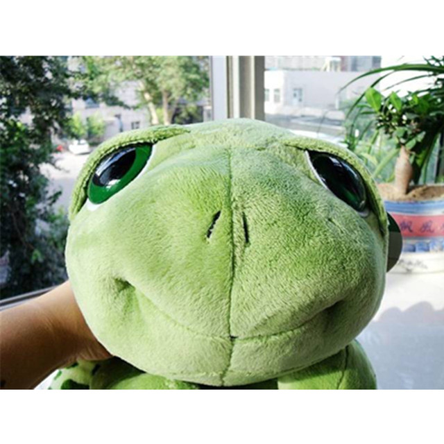 2018 New arriving 20cm Army Green Big Eyes Turtle Plush Toy Turtle Doll Turtle Kids As Birthday Christmas Gift Free shipping 5