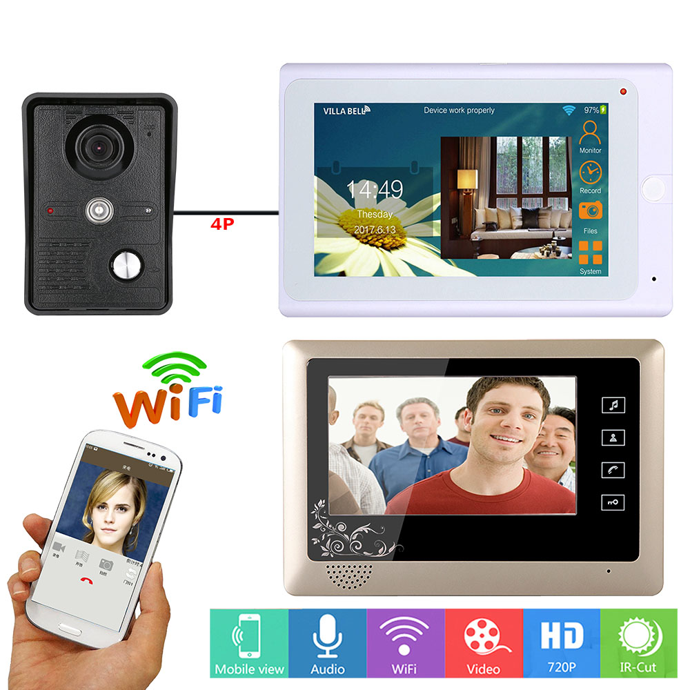 Video Intercom Fine Yobang Security 9 Tft Lcd Smatr Wired Wifi Video Intercom Doorbell Door Phone System Fingerprint Rfid Password Ir-cut Camera Door Intercom