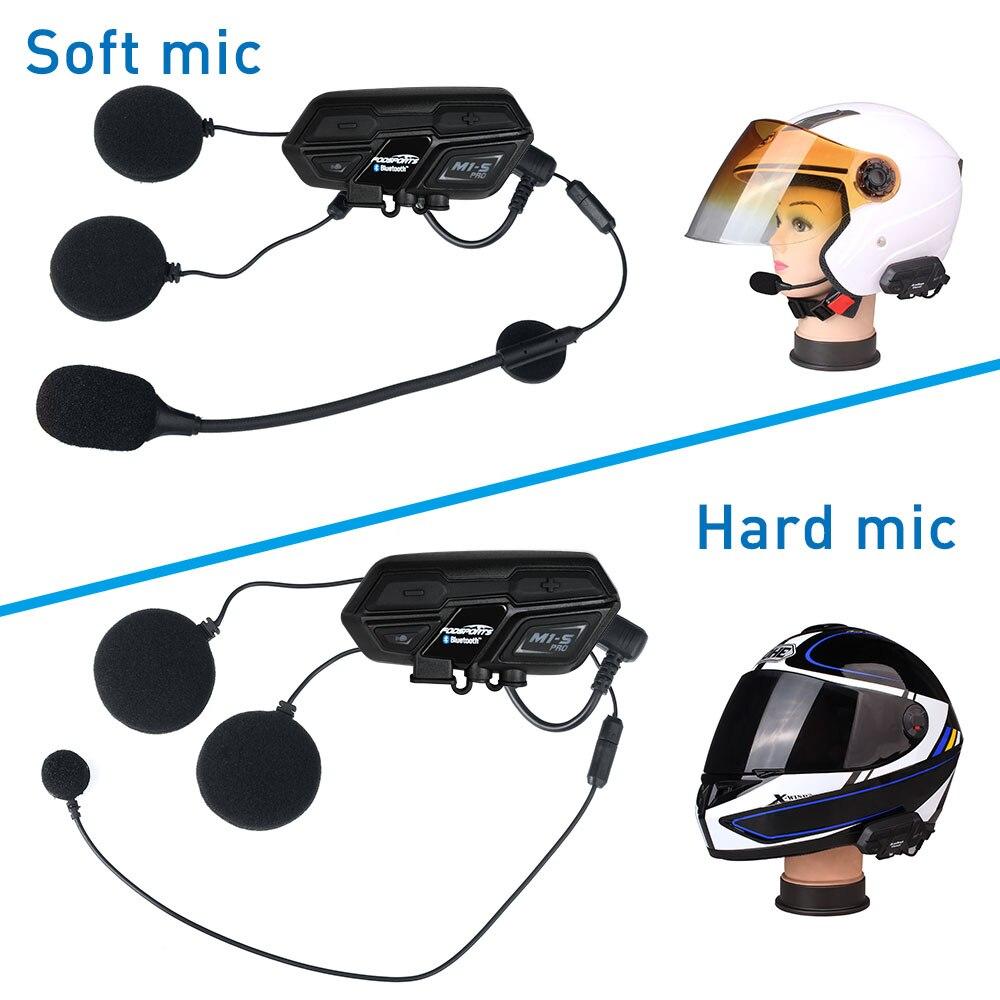Image 4 - 2 pcs Fodsports BT Motorcycle Headset Helmet Intercom M1 S pro 8 Riders 2000m Group Talk Moto Bluetooth waterproof Interphone-in Helmet Headsets from Automobiles & Motorcycles