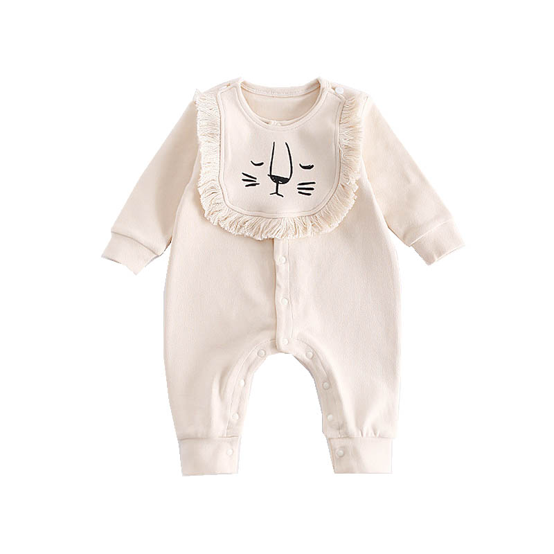 Cute Lion Autumn Warm Clothes Baby Boy Rompers Newborn Jumpsuit Boy Long Sleeve Coveralls Baby One-piece+Bibs Newborn Clothing cotton baby rompers set newborn clothes baby clothing boys girls cartoon jumpsuits long sleeve overalls coveralls autumn winter
