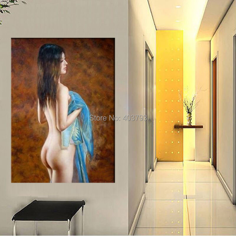 100 Handmade Oil Painting Nude girl chinese by artist on Canvas art 100 free shipping home decoration in Painting Calligraphy from Home Garden