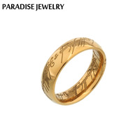 Punk Lord Of Rings 24k Gold Plated Midi Ring Stainless Steel Ring Knuckle Rings For Women