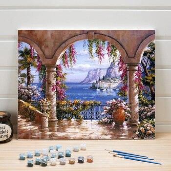 Peinture à numéros vue sur la mer