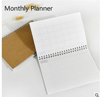 Planner 2017 Day Monthly Krafts Notebook Diary Day Planner Diary 2017 Kawaii Journal Stationery School Supplies 48 Inner Sheets
