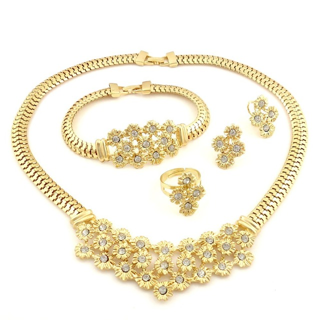 Top quality african custum jewelry sets 22k gold jewellery dubai