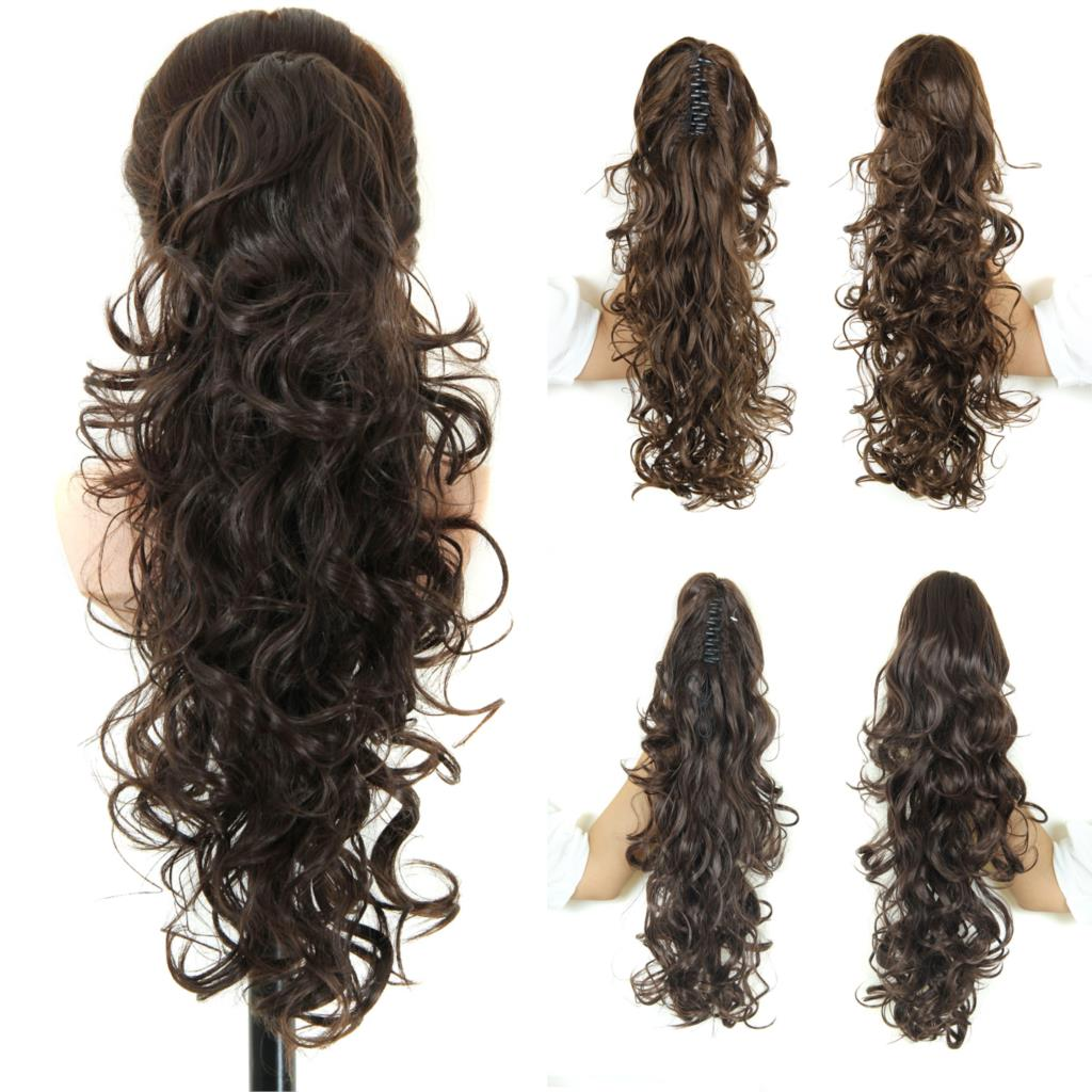 Wish Long Fake Hair Ponytails Sex Apply Hair Extension Synthetic