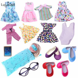"""LUCKDOLL Handmade High Quality Dress for 14.5"""" Doll Accessories Girls Toys,Generation,Birthday Gift(China)"""