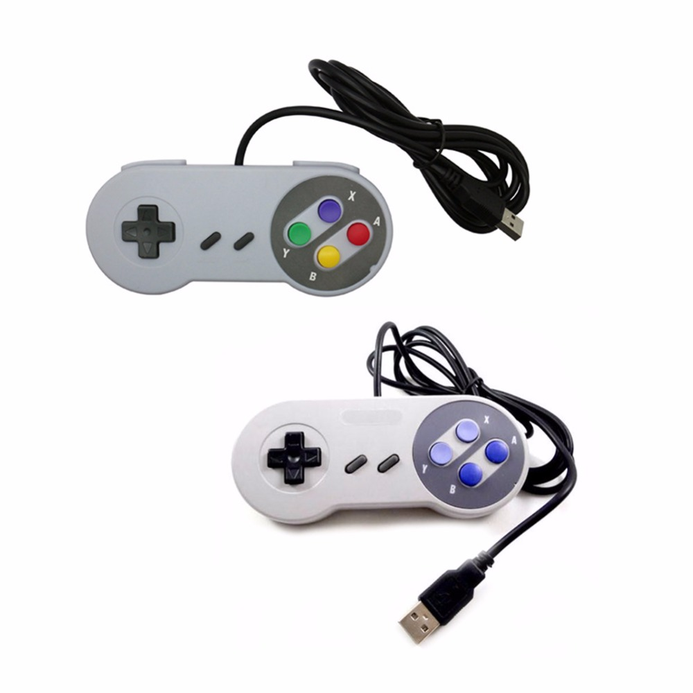 Portable USB Port Game Handle For Nintendo WII SNES Controller Classic Gamepad For PC Co ...