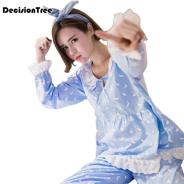 041f1d866 2019 nueva ropa de maternidad lactancia pijamas ropa de dormir para las  mujeres embarazadas de conjunto