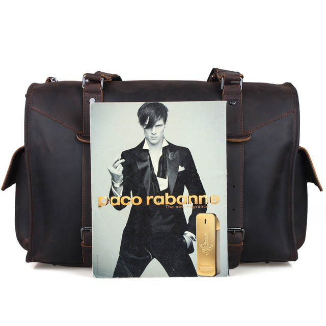 8f4d76ddaab9 Online Shop TIDING travel tote bags leather luxury duffle bags vintage  overnight shoulder bag 1094