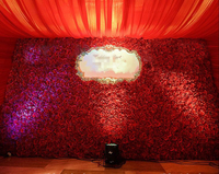 3M x 3M Max Wedding Flower Backdrop Artifical Red Flower wall Wedding Stage Decoration