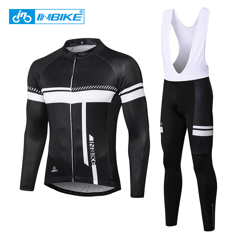 INBIKE Hiver Cyclisme Maillot Manches Longues Vélo De Course Vêtements Bib Pantalon Thermique Chaud VTT Vélo Vélo Vêtements Ciclismo