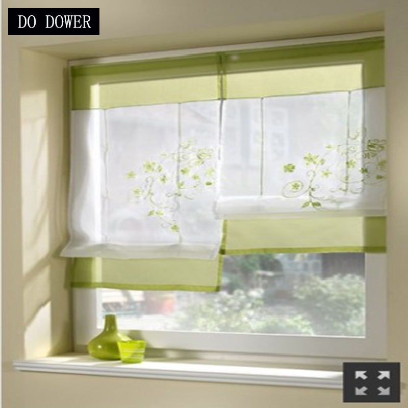 High quality Transparent Short kitchens curtains Solid Window Drapes Sheer for the living room bedroom garland curtains Decor