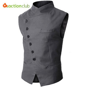 ACTIONCLUB Vest Black Formal Business Fit Suits For Men