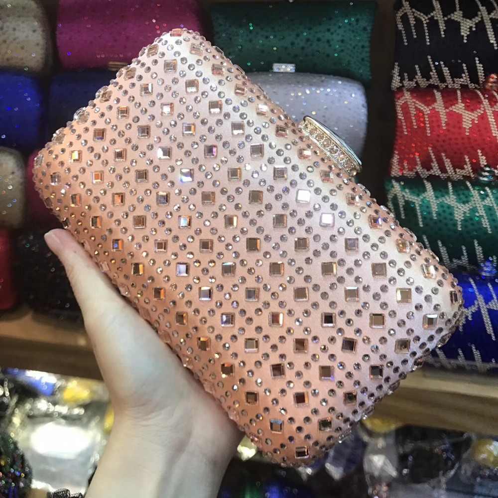 Xiyuan Merek Wanita Perak/Hot Merah Muda/Emas/Sampanye Pesta Kopling Malam Tas Genggam Wanita Crossbody Messenger tas Tangan