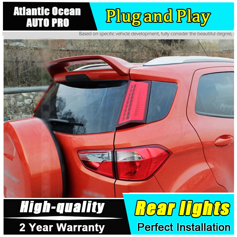 JGRT For EcoSport LED taillights 2013-2015 LED rear lights accessories For EcoSport parking For Ford EcoSport fog light car rear warning lamp for ford ecosport 2013 2015 external automobiles for anti collision rear end auto safe driving lights