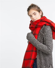 za Winter Cashmere Scarves 2016 font b Tartan b font Plaid Scarf New Designer Unisex Acrylic