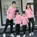 Дети 2016 Новый Полосой свитер печати рукава семья посмотрите