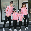 Children 2016 New Stripe  sweater printing sleeves family look