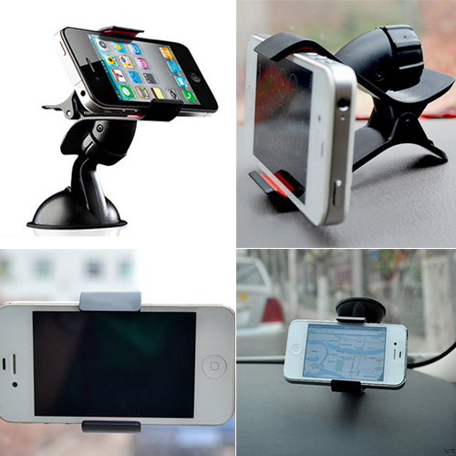 Universal 360 Degrees Rotating Car Windshield Mount Stand Bracket Holder For Phones GPS