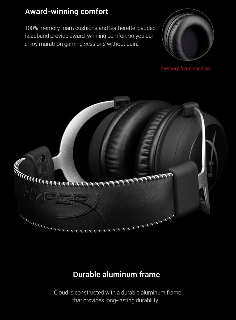 Kingston HyperX Cloud Silver Gaming Headphone with Microphone (17)