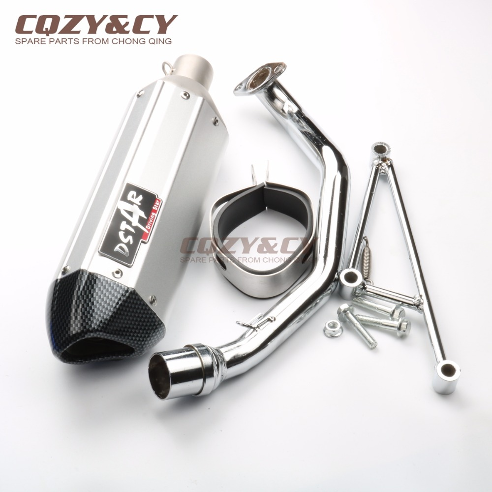 US $99 99 |Scooter Performance Exhaust System for GY6 150cc 157QMJ Chinese  Scooter Parts 5 Color-in Exhaust & Exhaust Systems from Automobiles &