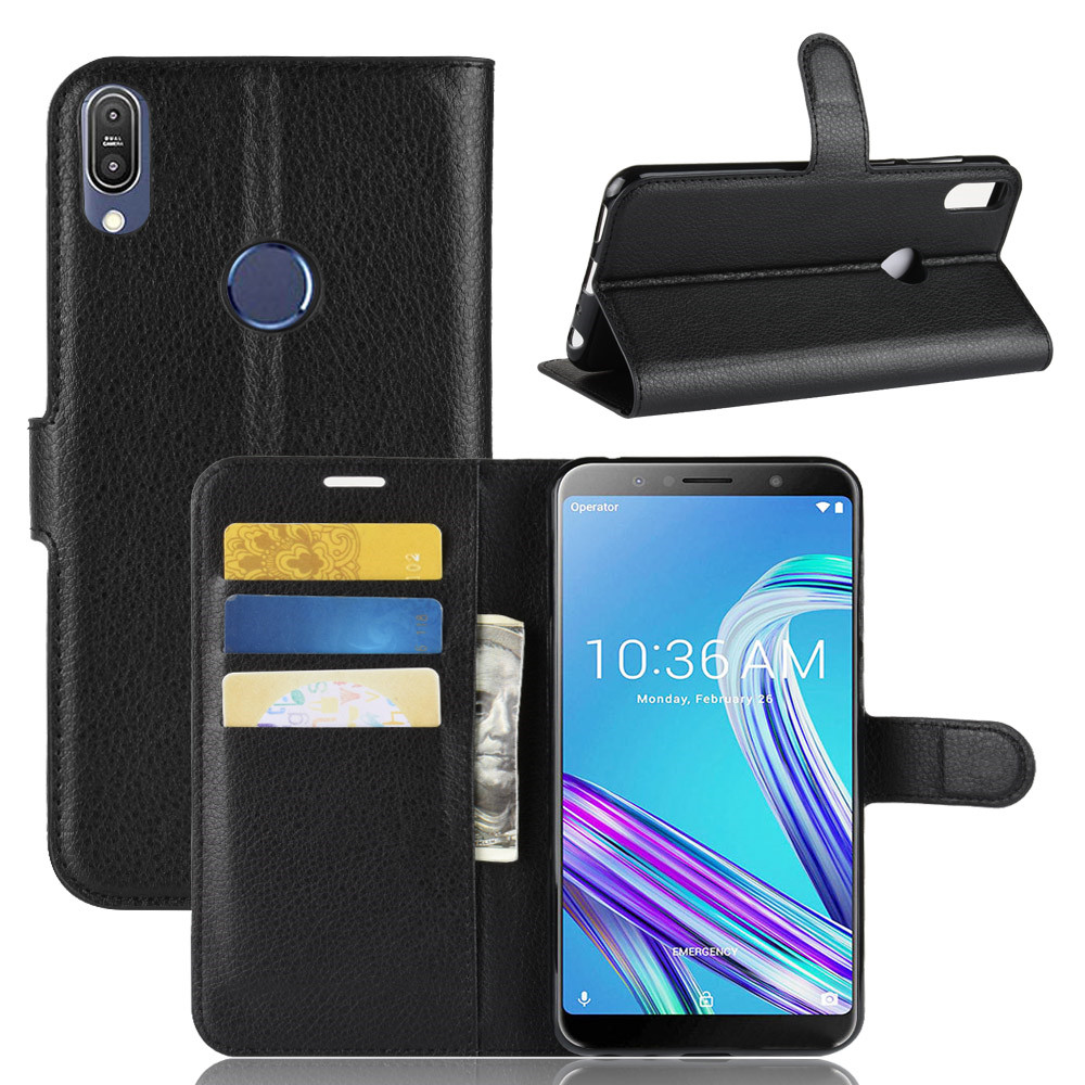 For <font><b>Asus</b></font> Zenfone Max Pro M1 <font><b>ZB601KL</b></font> Case Flip PU Leather Card Slots Wallet Stand Case For <font><b>Asus</b></font> ZB ZB601 601 601KL KL Phone Cases image