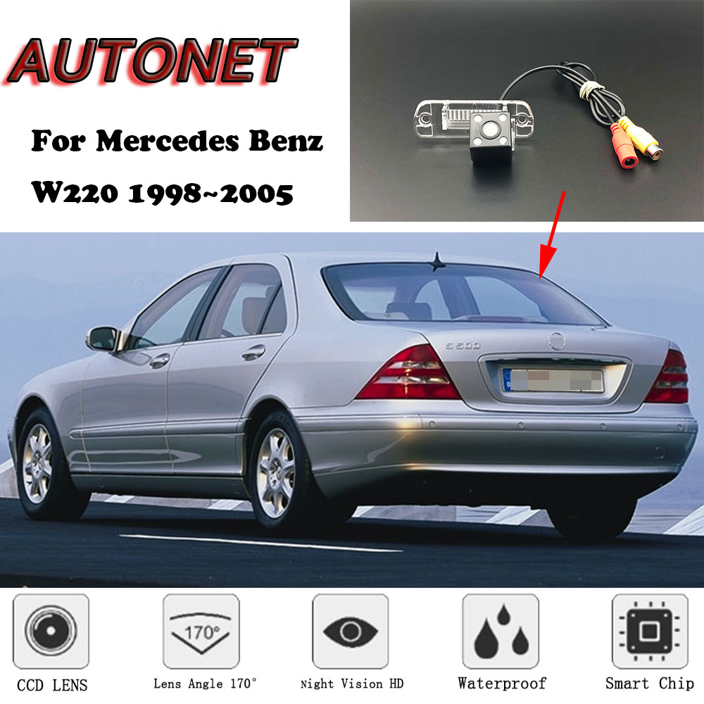 AUTONET Backup Rear View Camera For Mercedes Benz W220 1998 1999 2000 2001 2002 2003 2004 2005 Night Vision License Plate Camera