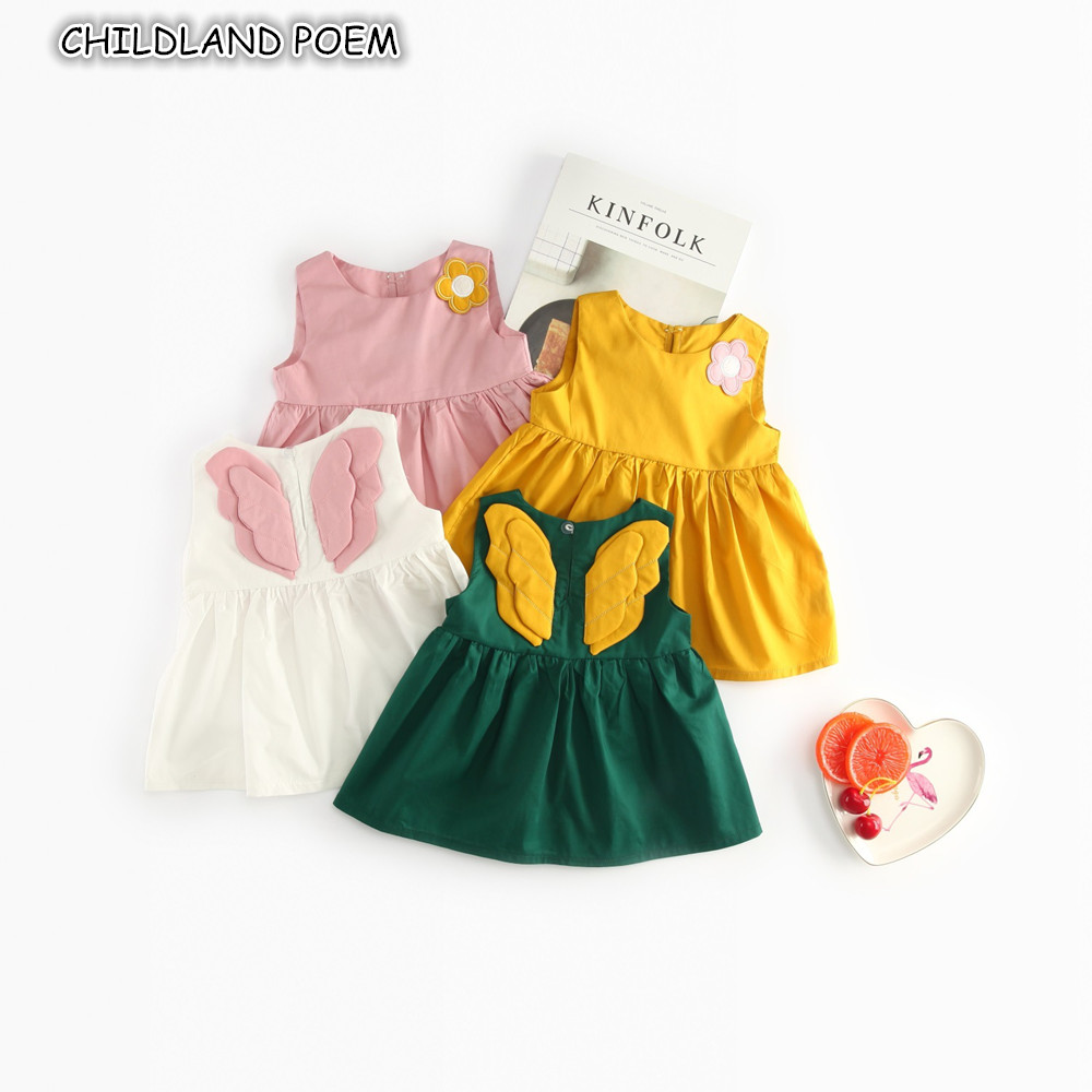 Baby Kleid Sommer Baby Mädchen Kleid Kleidung Engel Flügel ...