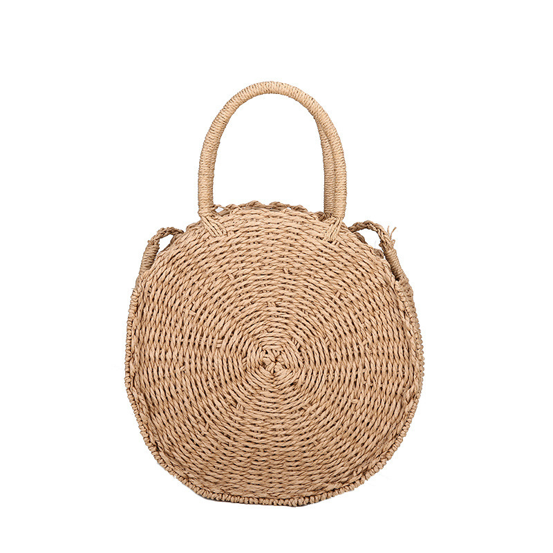 Round Sandy Beach Woman Package Rattan Sea Sunshine handbag tote bolsa feminina mujer sandy beach round mat