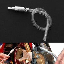 Motorcycle Car Clutch Brake Bleeder Hose Oiling Air Exhaust Rubber Tube Aluminium Filling Pipe Maintenance Tool 45cm