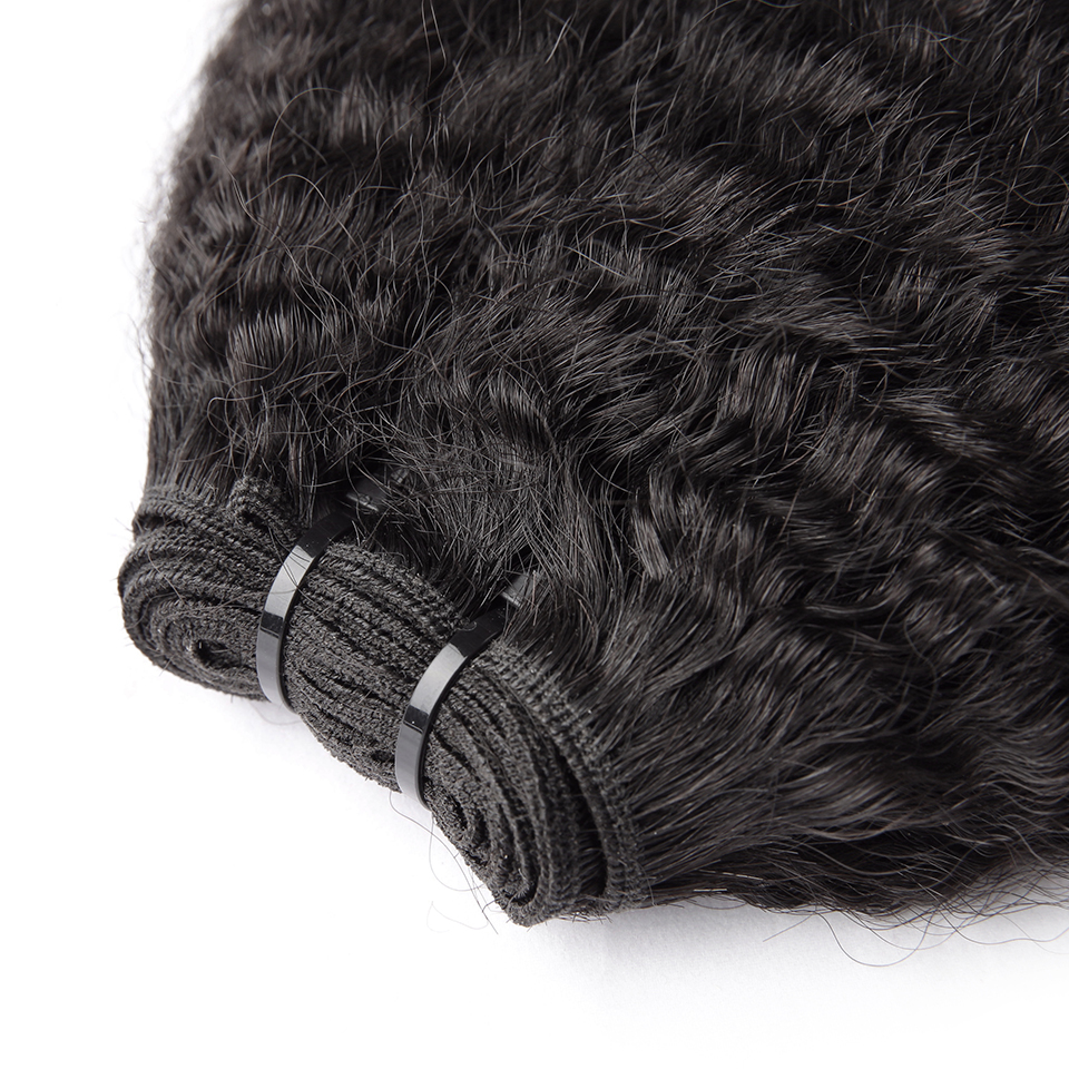 HJ Weave Beauty 8A Virgin Hair Human Hair Bundles Brazilian Kinky Straight 3 Bundles/Lot Natural Color Free Shipping
